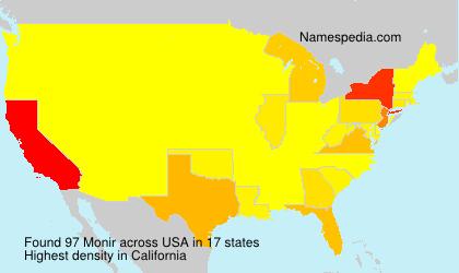 Familiennamen Monir - USA