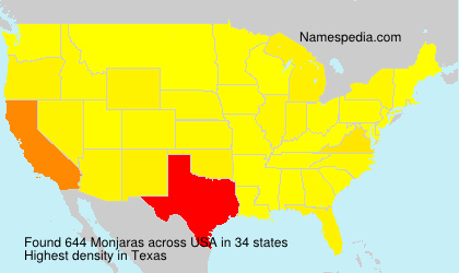 Surname Monjaras in USA