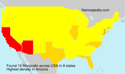 Surname Monjardin in USA