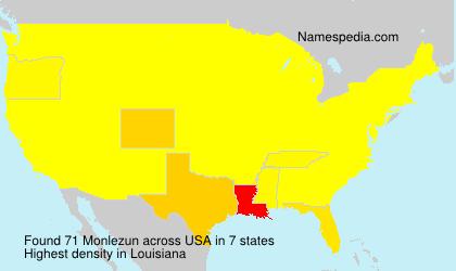 Surname Monlezun in USA