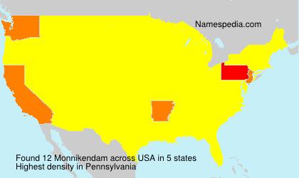 Surname Monnikendam in USA