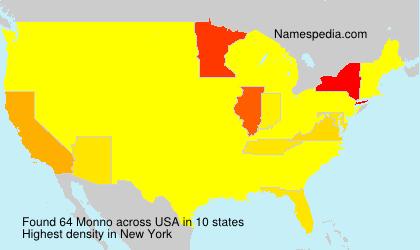 Surname Monno in USA