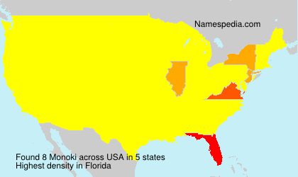 Surname Monoki in USA