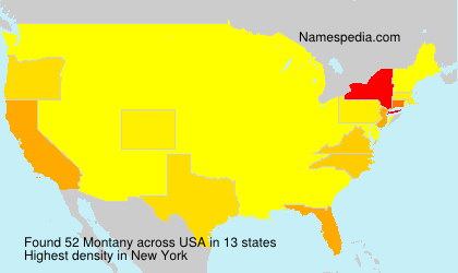 Surname Montany in USA