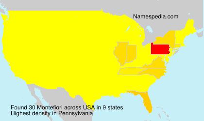 Familiennamen Montefiori - USA