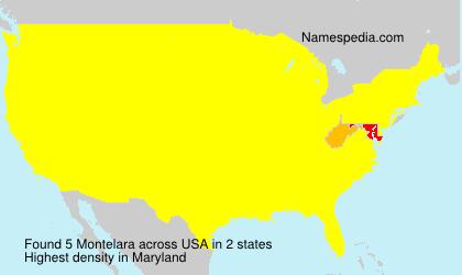 Familiennamen Montelara - USA