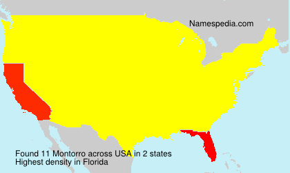 Surname Montorro in USA