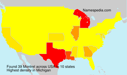 Surname Montrel in USA