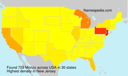 Surname Monzo in USA