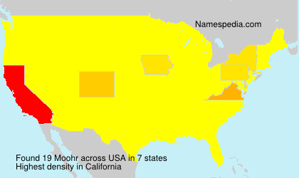 Surname Moohr in USA