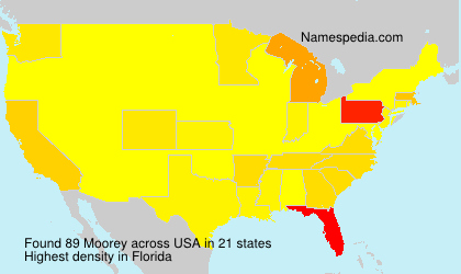 Surname Moorey in USA