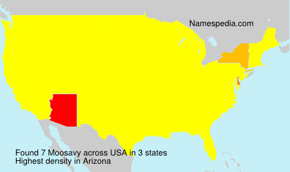 Surname Moosavy in USA