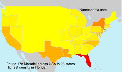 Surname Moradel in USA