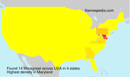 Surname Moragneel in USA