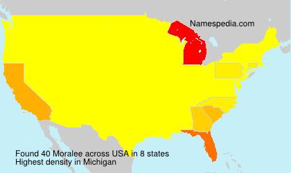 Surname Moralee in USA