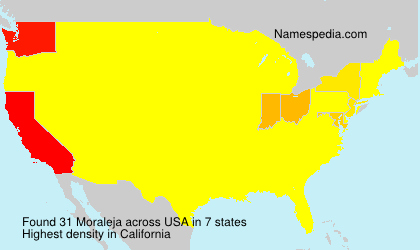 Surname Moraleja in USA