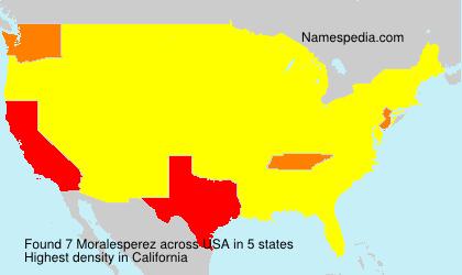 Surname Moralesperez in USA