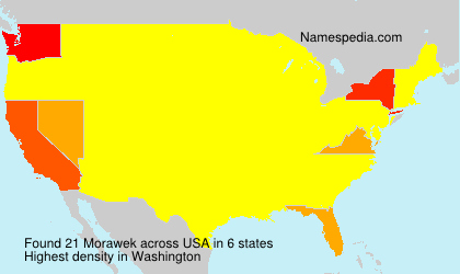 Surname Morawek in USA