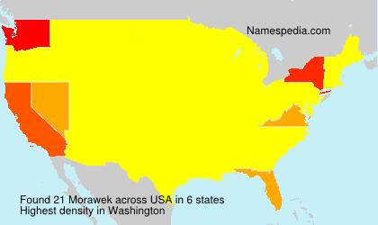 Surname Morawek in USA