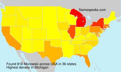 Surname Morawski in USA