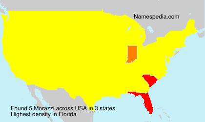 Familiennamen Morazzi - USA