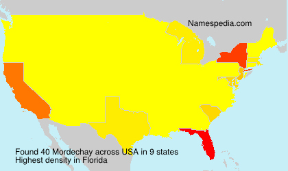 Surname Mordechay in USA