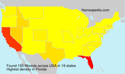 Surname Moreda in USA