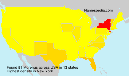 Surname Morenus in USA