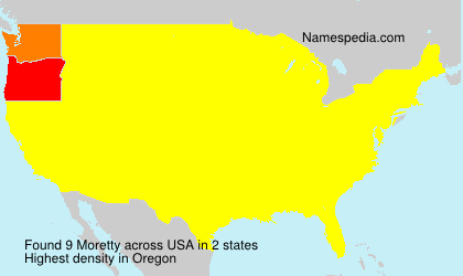 Surname Moretty in USA