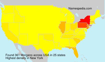 Surname Morgano in USA