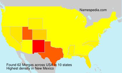 Familiennamen Morgas - USA