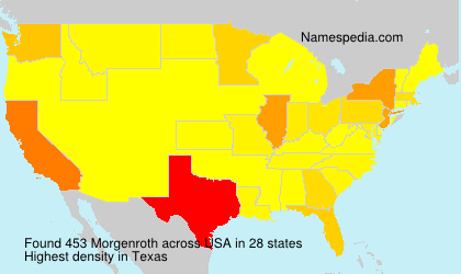 Surname Morgenroth in USA