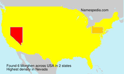 Surname Morghen in USA