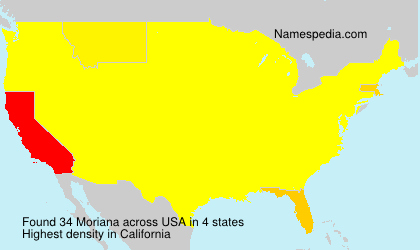 Surname Moriana in USA