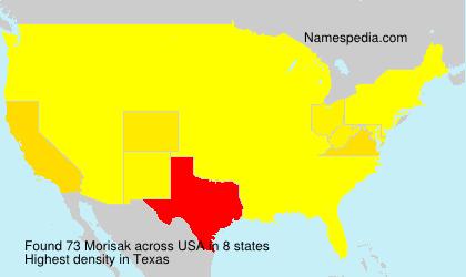 Familiennamen Morisak - USA