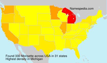 Familiennamen Morisette - USA