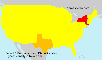 Surname Mormel in USA