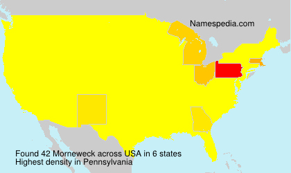 Surname Morneweck in USA