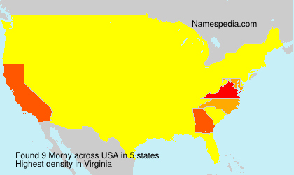 Surname Morny in USA