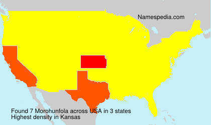 Surname Morohunfola in USA