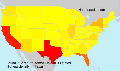 Surname Moron in USA