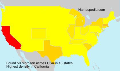 Familiennamen Morosan - USA