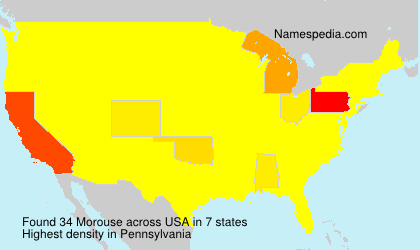 Familiennamen Morouse - USA
