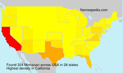 Surname Mortazavi in USA