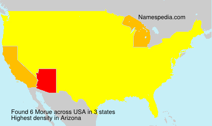 Surname Morue in USA