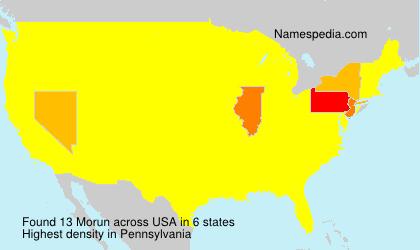 Surname Morun in USA