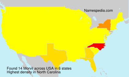 Surname Morvil in USA