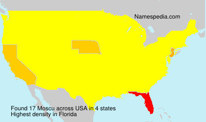 Surname Moscu in USA