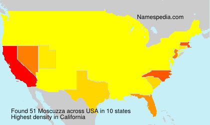 Surname Moscuzza in USA