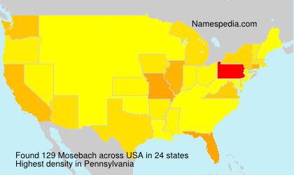 Surname Mosebach in USA